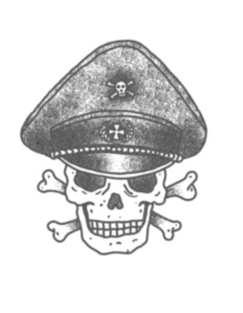 Dead soldier skull temporary tattoo