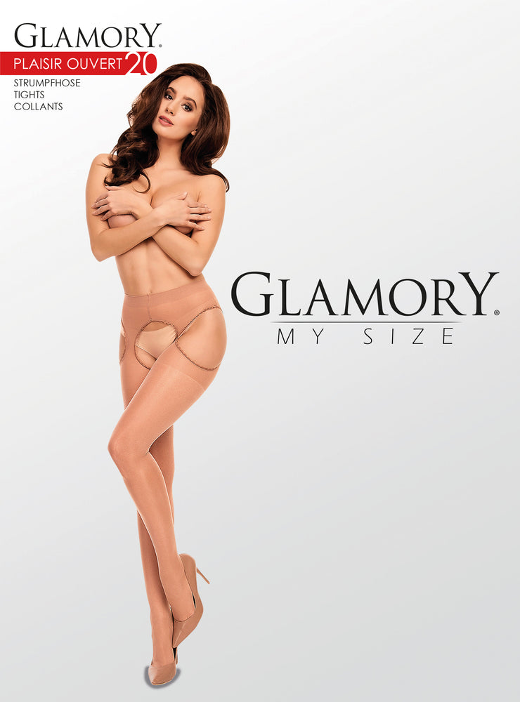 Glamory OUVERT 20 CROTCHLESS Tight Plus Size (Classic Cuban Heel)50121