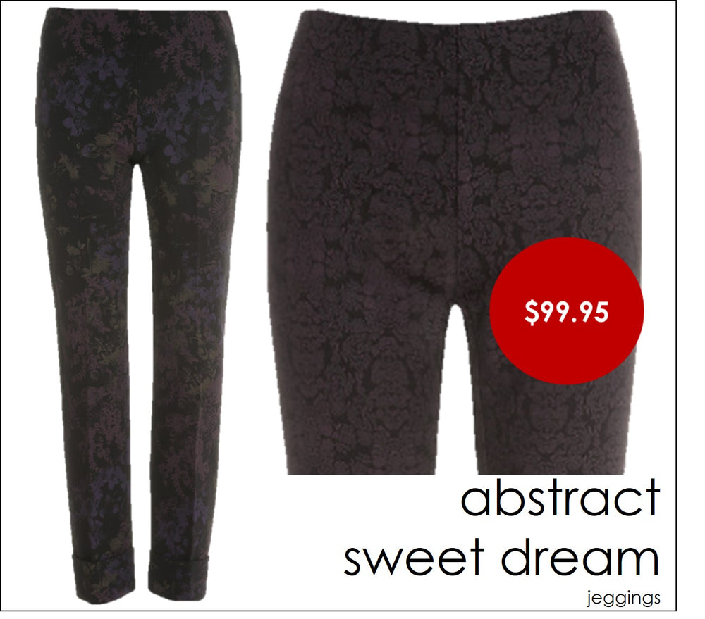 Oroblu ABSTRACT SWEET DREAM Trousers (Cropped Printed Fabric)