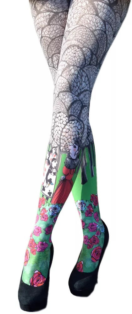 Marie Antoilette ALICE Printed Leggings (Unique One Of A Kind)