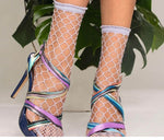 Trasparenze ANANAS FISHNET Anklet Socks (Classic Fashion)
