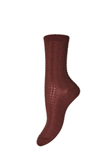 MP Denmark ANNA 3 colours WOOLEN ANKLE Socks (Ladder Pattern Effect) 59521