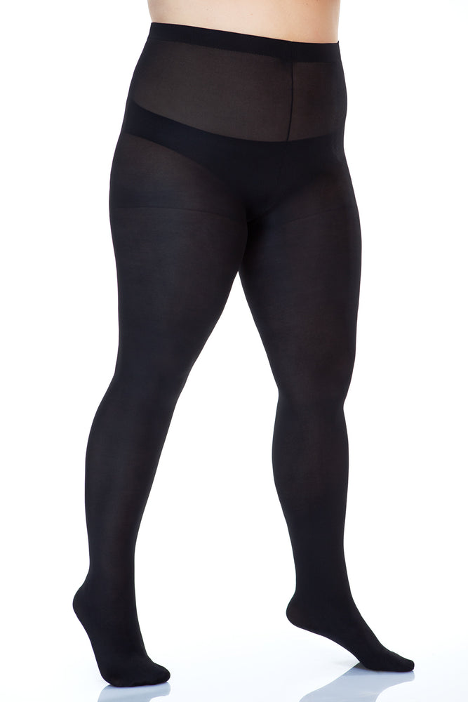 Lida Plus Size Microfibre Tights (415)