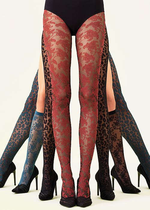 Oroblu BICOLOR LACE Pantyhose/Tights (Eye Catching Lace)