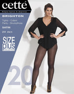 Cette BRIGHTON Plus Size Pantyhose/Tights Navy available (Premium Belgium Hosiery)