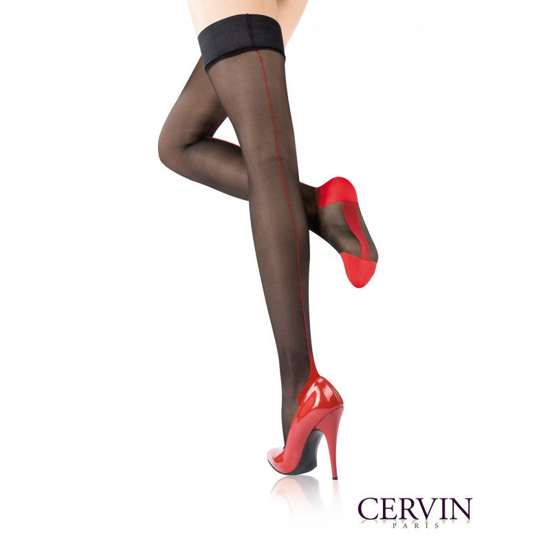 Cervin AGNES COUTURE BICOLORE  Stay Ups/Hold Ups (Plus Size Available)