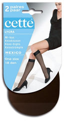 Knee Highs Mexico Two Pair Pack - Cette Hosiery