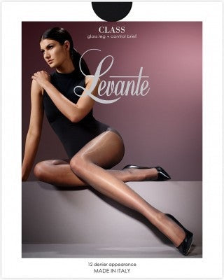 Levante Class Control Brief Pantyhose/Tights Gloss Shine 12 Denier  Italian Hosiery  - Starts with Legs