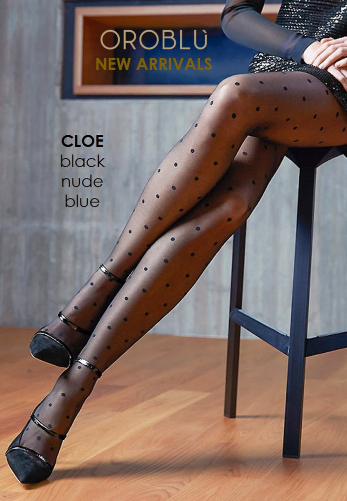 Oroblu CLOE POLKA DOT/COMPONENT TIGHTS 20- Dot Pantyhose/Tights (Classic Luxury)