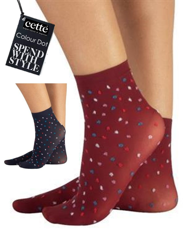 Colour Dot Fashion Cotton Socks (Spotty Fashion)