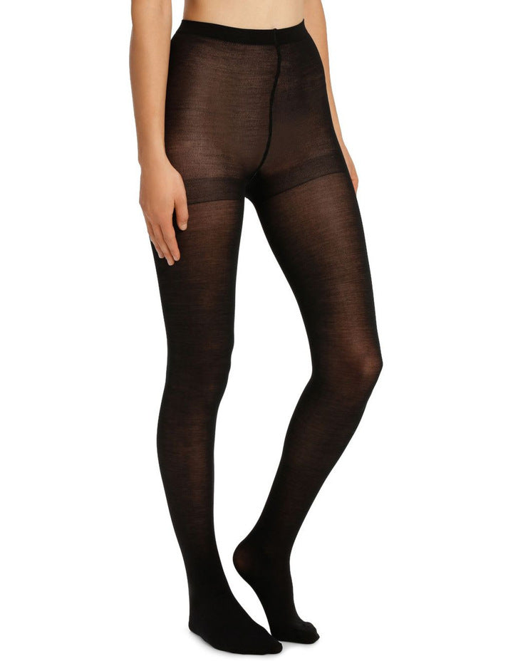 Columbine SUPERFINE MERINO WOOL 70 Pantyhose/Tights Black and Navy