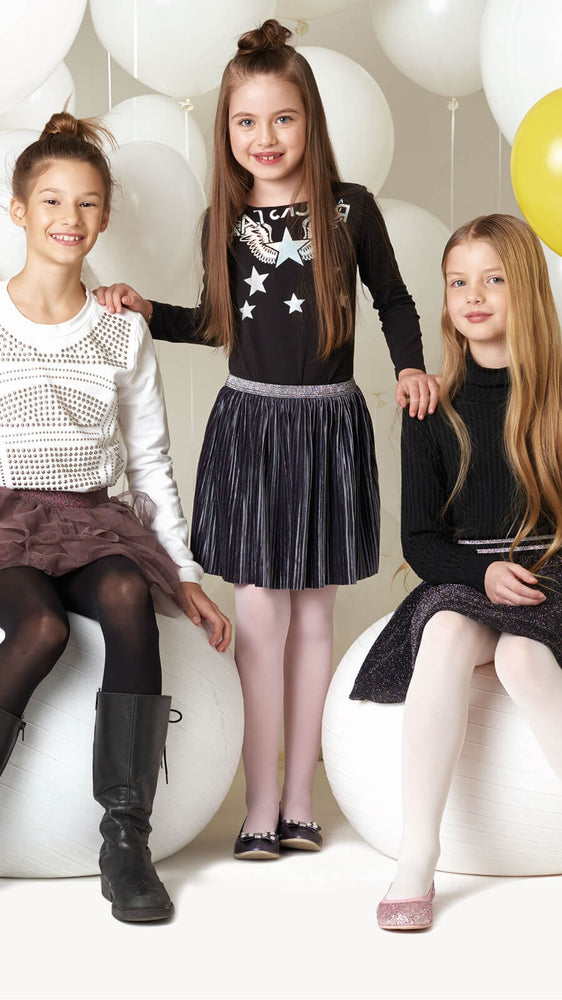 Trasparenze Hosiery Childrens Corinne White & Ivory  Tights -  Starts with Legs