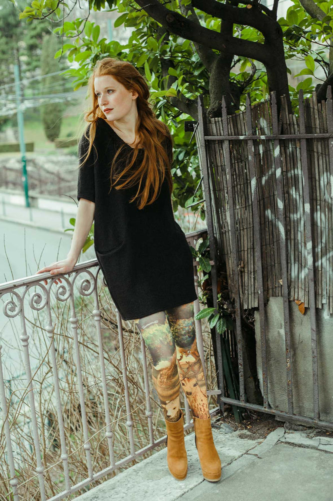 Marie Antoilette DANS LES BOIS Printed Tights (Luxury French Hosiery)