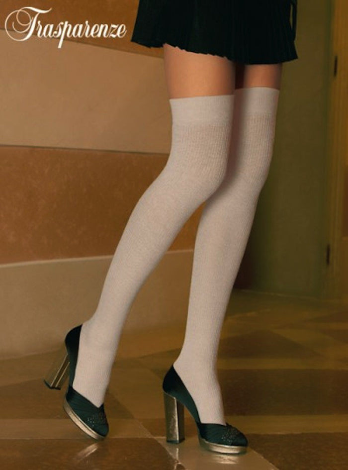 Dora Wool Stay Ups/Hold Ups - Trasparenze Hosiery and Starts with Legs