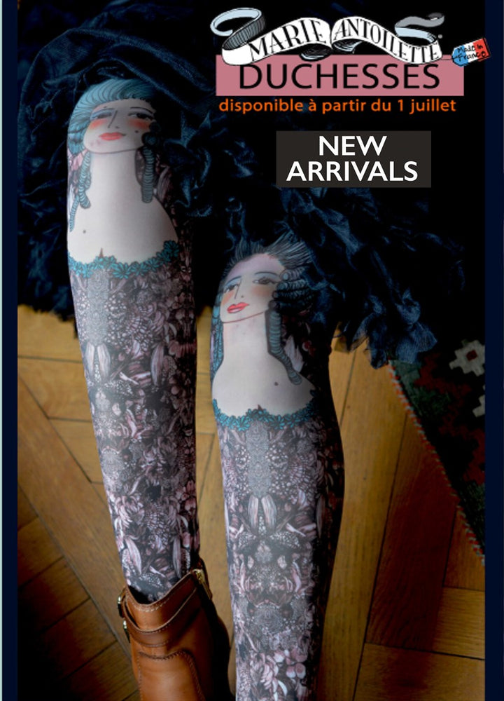 Marie Antoilette DUCHESS Printed Tights (Luxury French Hosiery)