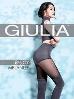 Giulia ENJOY MELANGE Pantyhose/Tights (Style and More))