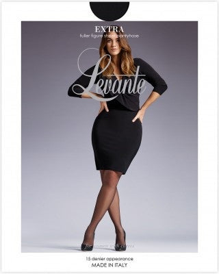 Levante Extra (Plus Size) Sheer Fuller Figure 15 Den Pantyhose/Tights  Italian Hosiery - Starts with Legs