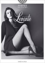 Levante FISHNET Pantyhose/Tights - Cappuccino and Black