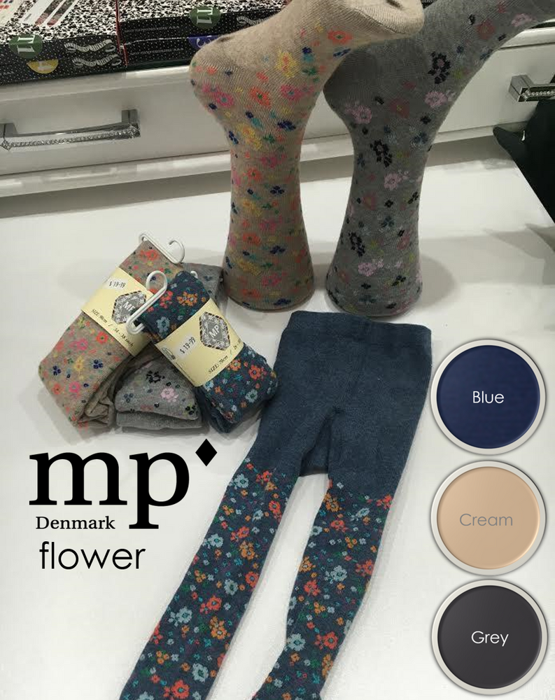 MP Denmark Children FLOWER COTTON Tights (Luxury Patterned Cotton) 3937