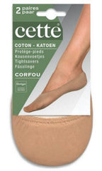 Footlets Corfou Cotton 2 Pair Pack - Cette Hosiery