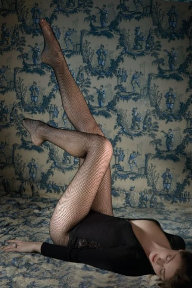 Gerbe French Hosiery RESILLE Fine Fishnet Pantyhose/Tights  and Starts with Legs