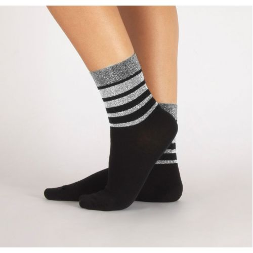 Cette GLITTER STRIPE Socks (Lurex Fashion Statement) 246-12