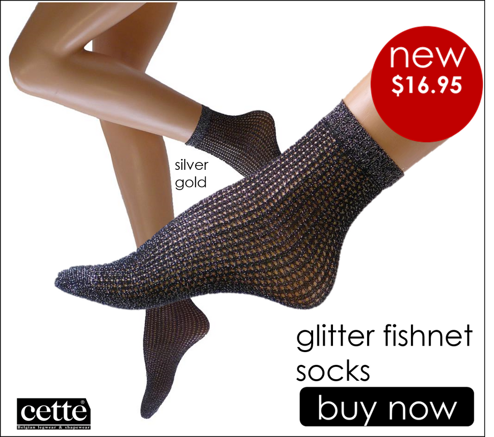 Cette GLITTER FISHNET Fashion Nylon Socks (Trendy!!!)