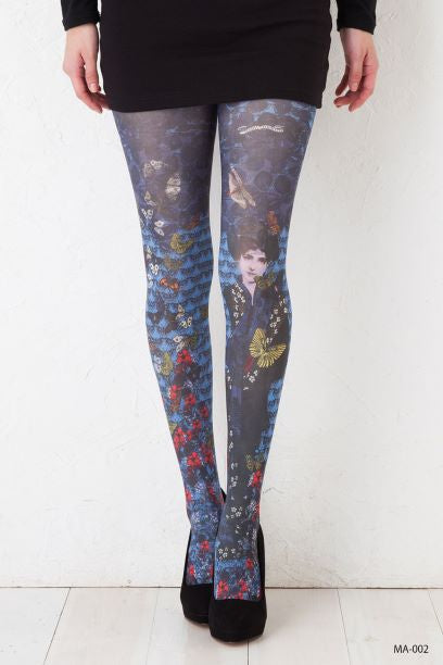 Marie Antoilette GUILLEMETTE Printed Leggings (French Luxury Hosiery)