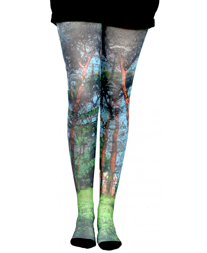 Marie Antoilette HANSEL & GRETEL Printed Tights (French Luxury Hosiery)
