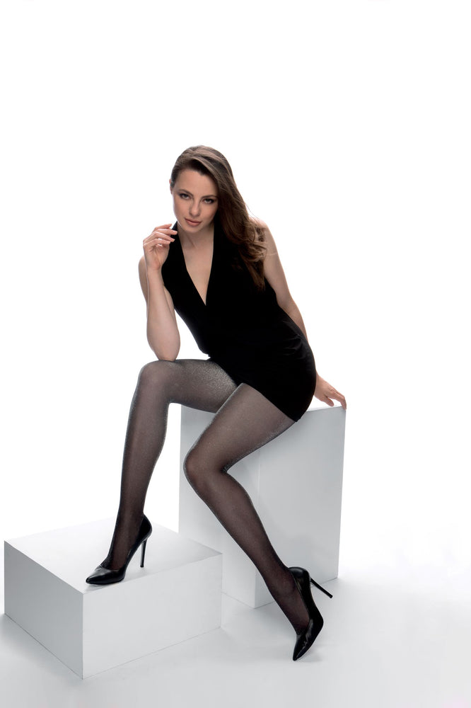 Cette HOLLYWOOD Plus Size Pantyhose/Tight Silver and Gold (Premium Belgium Hosiery)