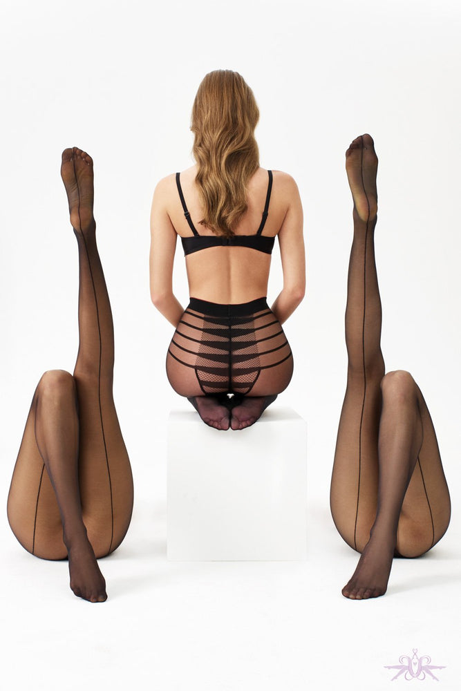 Oroblu ICON SEDUCTION FIRE Pantyhose/Tights (Linear Pattern & Luxury)