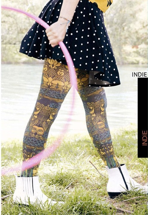 Marie Antoilette INDIE Printed Tights (Luxury French Hosiery)