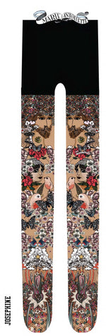 Marie Antoilette JOSEPHINE Printed Tights (French Luxury Hosiery)