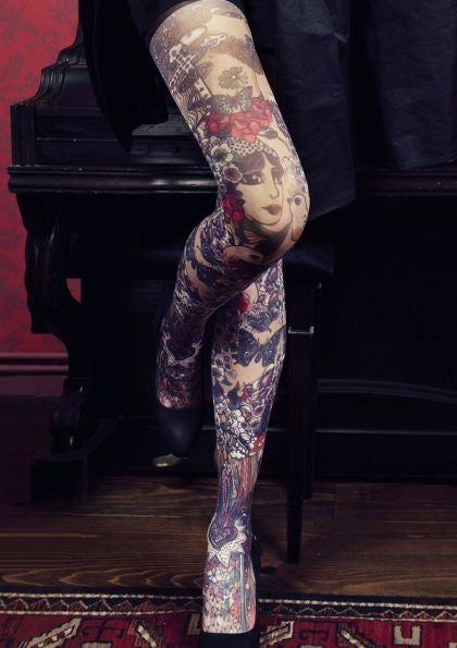 Marie Antoilette JOSEPHINE Printed Leggings (French Luxury Hosiery)