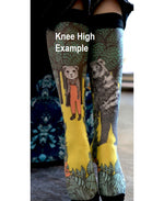 Marie Antoilette JOSEPHINE Printed Knee High Socks (French Luxury Hosiery)