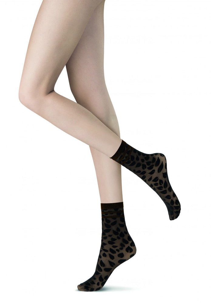 Oroblu LEAF Womens Socks (Steal the Limelight)