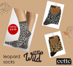 Cette LEOPARD Cotton Socks (Trendy Leopard Pattern) 267-12