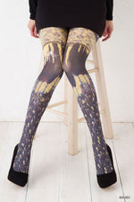 Marie Antoilette LES INSEPERABLES Printed leggings (Luxury French Hosiery)