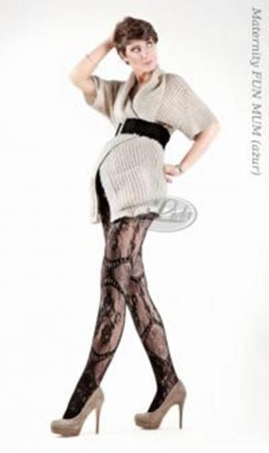 Lida Maternity Lace Tights (502)