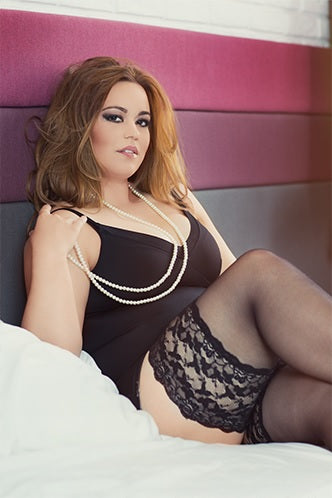 Lida Plus Size Stay Up / Hold Up with Lace High Extensible Elastane (130)