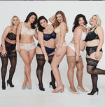 <transcy>Lida Plus Size Stay Up / Hold Up con encaje de elastano extensible alto (130)</transcy>