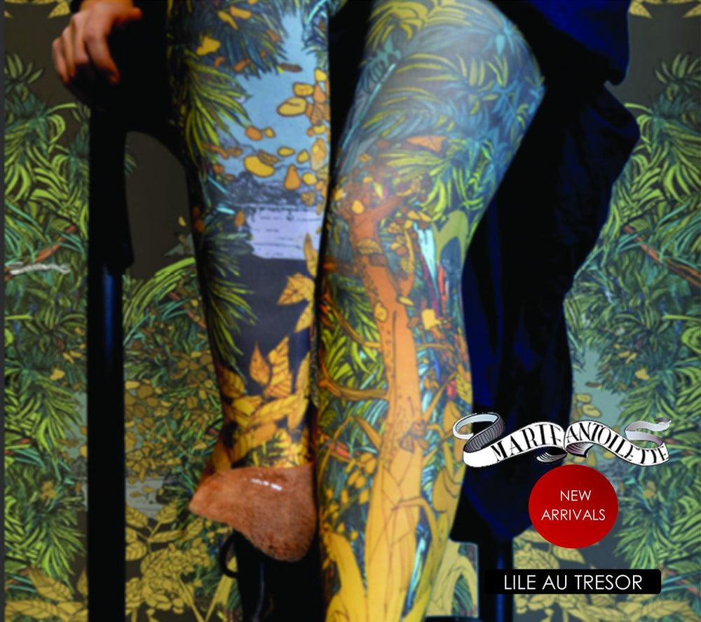Marie Antoilette LILE AU TRESOR Printed Tights (Exclusive French Collection)