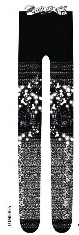 Marie Antoilette LUMIERES Printed Tights (Luxury French Hosiery)