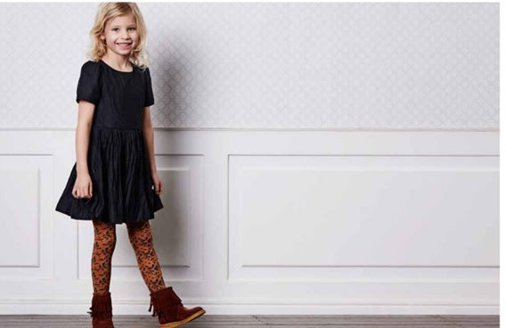 MP Denmark Children's Daisy Autumn Cotton Tights- Starts with Legs