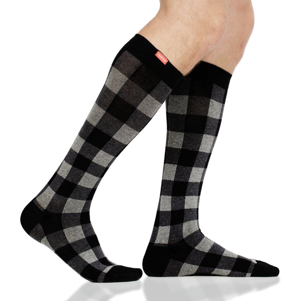 VIM&VIGR MONTANA PLAID COTTON Compression Sock 15-20MMHG