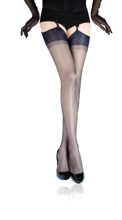 Capri various colours Stockings (available in Plus Size) - Cervin Hosiery and Starts with Legs