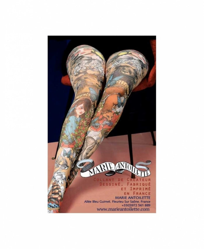 Opaline Printed Tights - Marie Antoilette Hosiery and Starts with Legs