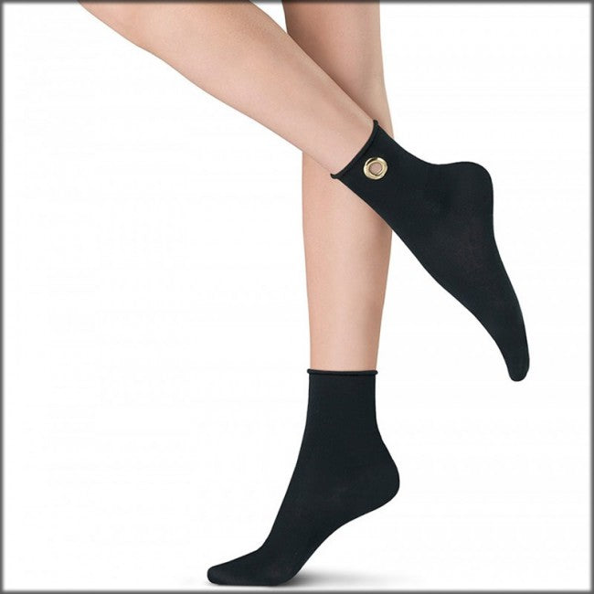 Oroblu ABSTRACT RING COTTON Womens Socks (Luxurious Fashion!!)