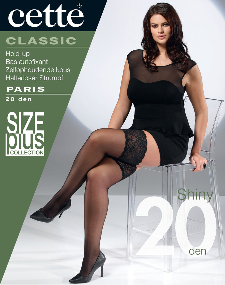 <transcy>Cette PARIS Plus Size Stay Ups / Hold Ups (calcetería belga premium)</transcy>
