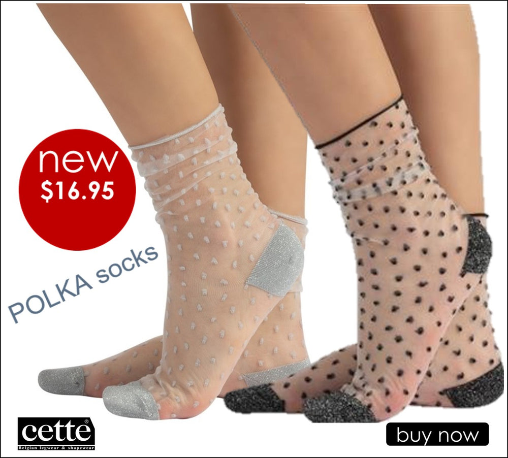 Cette POLKA Fashion Nylon Socks (Delicate and Transparent Fashion) 210-12